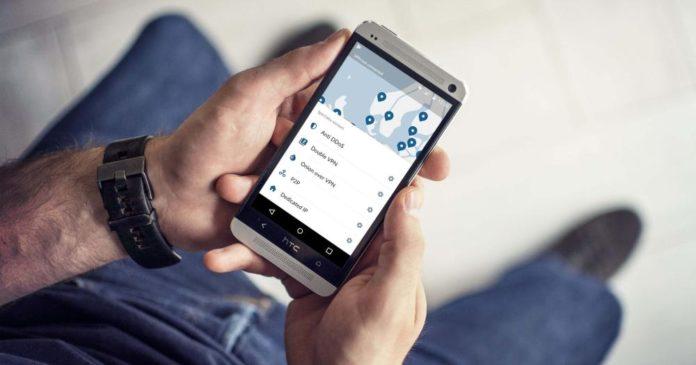 NordVPN app running on Android